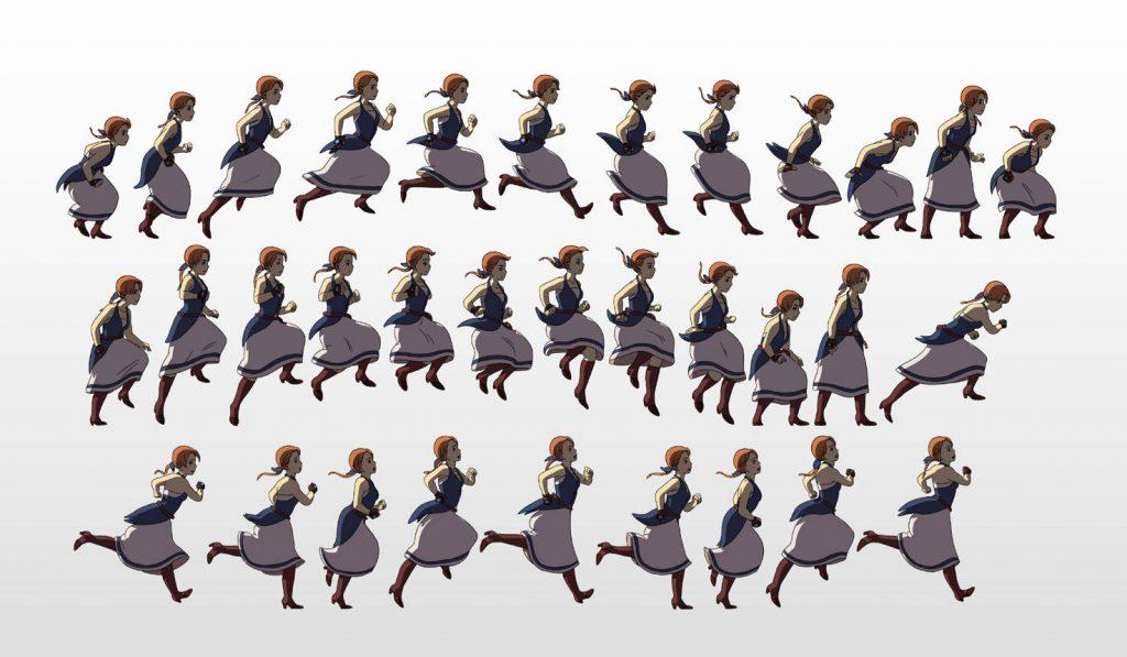 Sprites de animación de Anne.